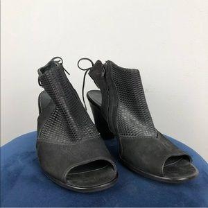 Paul Green Lexi US Size 8 Black Open Toe Booties